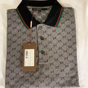 💯 Gucci Men's Short Sleeve Polo